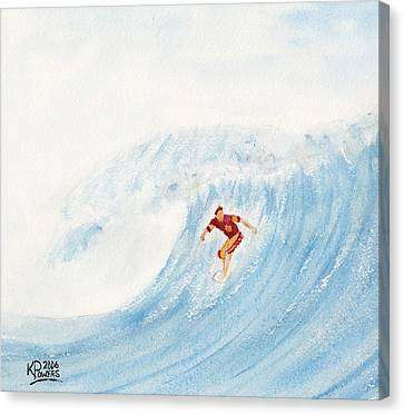 The Surfer Canvas Print by Ken Powers