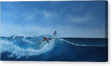 The Surfer Canvas Print by Paul Newcastle