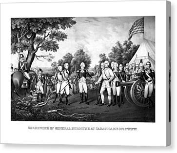 The Surrender Of General Burgoyne Canvas Print by War Is Hell Store
