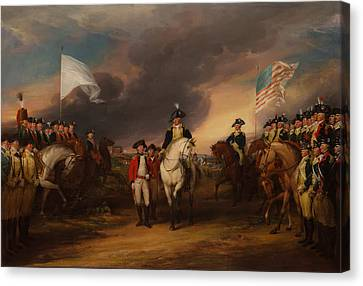 The Surrender Of Lord Cornwallis At Yorktown Canvas Print by Mountain Dreams