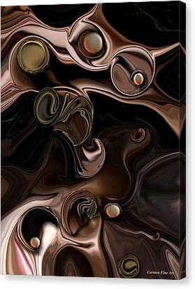 Canvas Print featuring the digital art The Suspicious Abstraction by Carmen Fine Art