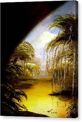 Canvas Print featuring the painting The Swamp by Michael McKenzie