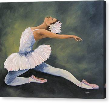 Ballet Dancers Canvas Print - The Swan Iv by Torrie Smiley