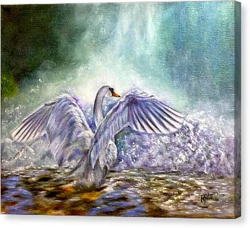 The Swan's Song Canvas Print