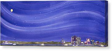 Canvas Print featuring the painting The Sweetest Little Town In The Prairie IIi by Scott Kirby