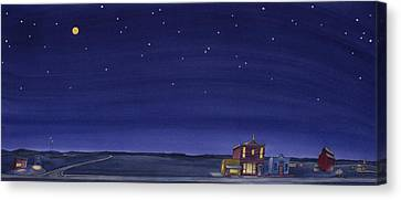 Canvas Print featuring the painting The Sweetest Little Town On The Prairie V by Scott Kirby