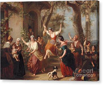 The Swing, 1848 Canvas Print