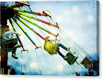 The Swings Canvas Print by Kim Fearheiley