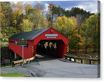 The Taftsville Covered Bridge Canvas Print