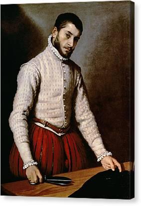 The Tailor Canvas Print by Giovanni Battista Moroni
