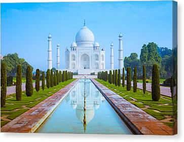 The Taj Mahal Of India Canvas Print by Nila Newsom