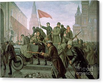 The Taking Of The Moscow Kremlin In 1917 Canvas Print