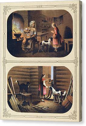 The Tale Of Baba Yaga And The Evil Stepmother Canvas Print