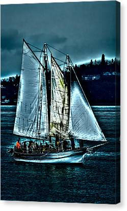 The Tall Ship Lavengro Canvas Print by David Patterson