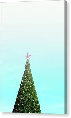 Christmas Greeting Canvas Print - The Tallest Christmas Tee- Photograph By Linda Woods by Linda Woods