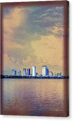 The Tampa Cityscape Canvas Print by Marvin Spates