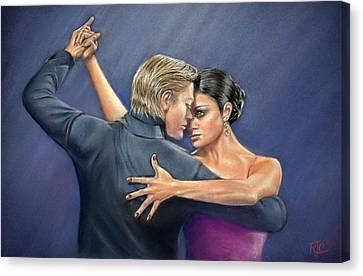 Tango Canvas Print by Rosemary Colyer