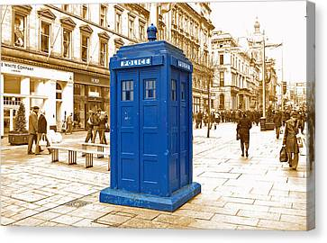 The Tardis Canvas Print by Rob Hawkins