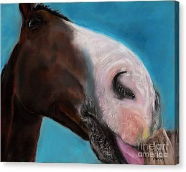 The Tasty Post Canvas Print by Frances Marino