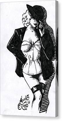 The Tease Canvas Print by Scarlett Royal