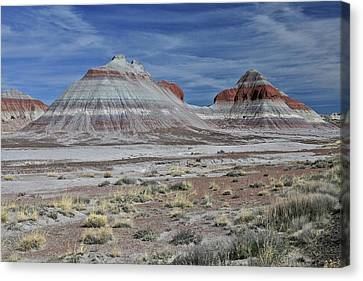 Canvas Print featuring the photograph the TeePees by Gary Kaylor