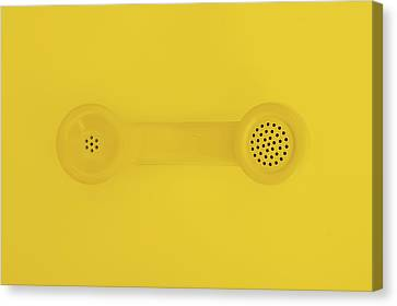 Chat Canvas Print - The Telephone Handset by Scott Norris