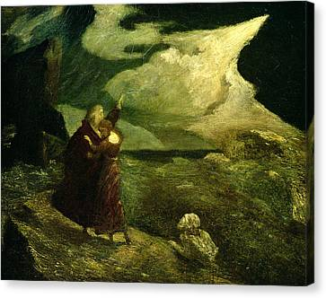 The Tempest Canvas Print by  Albert Pinkham Ryder