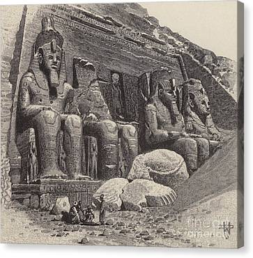 The Temple Of Abu Simbel Canvas Print
