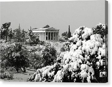 The Temple Of Hephaestus Canvas Print by Manolis Tsantakis