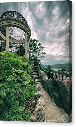 The Temple Walkway Canvas Print by Jessica Jenney