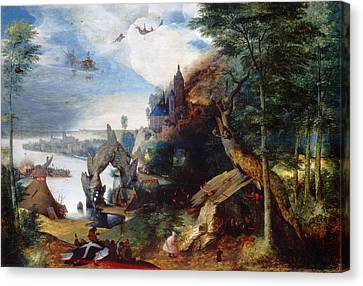 The Temptation Of Saint Anthony Canvas Print by Follower of Pieter Bruegel the Elder