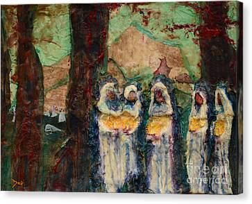 The Ten Virgins Canvas Print by Debi Bond