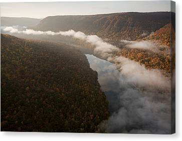 The Tennessee River Cuts Through Signal Canvas Print by Stephen Alvarez