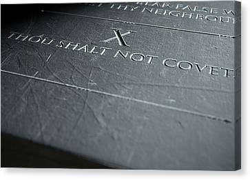 Ten Commandments Canvas Print - The Tenth Commandment by Allan Swart