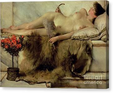 The Tepidarium Canvas Print by Sir Lawrence Alma-Tadema
