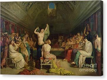 The Tepidarium Canvas Print by Theodore Chasseriau