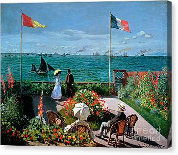 Breeze Canvas Print - The Terrace At Sainte Adresse by Claude Monet
