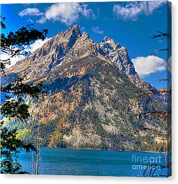 Canvas Print featuring the photograph The Teton Gem by Robert Pearson