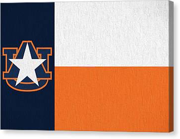 The Texas Auburn Flag Canvas Print