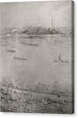 The Thames Canvas Print by James Abbott McNeill Whistler