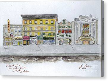 Apollo Theater Canvas Print - Theatre's Of Harlem's 125th Street by AFineLyne