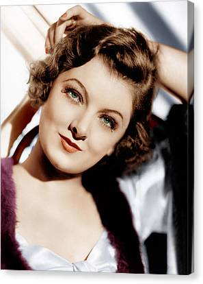 The Thin Man, Myrna Loy, 1934 Canvas Print by Everett