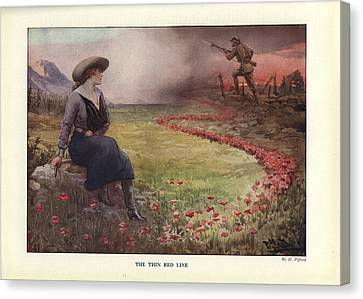 The Thin Red Line Canvas Print by Celestial Images