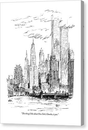 City Canvas Print - The Thing I Like About New York by Robert Weber