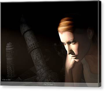 The Thinker Canvas Print by Jim Coe