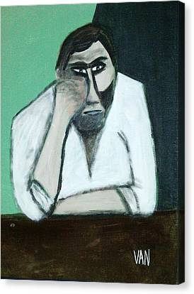 The Thinker Canvas Print by Van Winslow