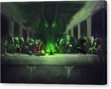 Last Supper Canvas Print - The Thirteenth Member by Craig Lee
