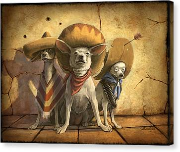Prairie Dog Canvas Print - The Three Banditos by Sean ODaniels