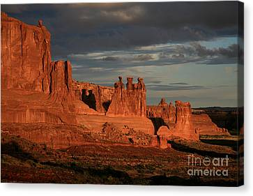 The Three Gossips And Sheeprock Canvas Print by Timothy Johnson