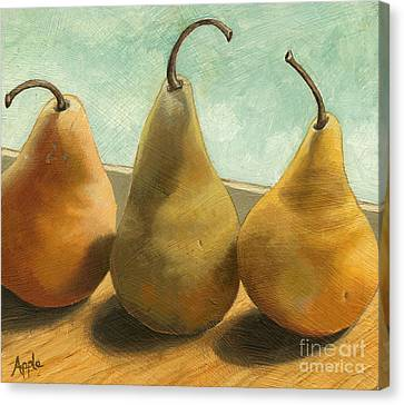 The Three Graces - Painting Canvas Print by Linda Apple